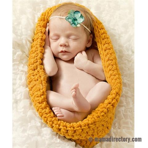Baby Pod Photography Props Handmade Newborn Knitted Sleeping Bag