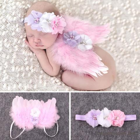Newborn Photography Props Crochet Knit Costume Cute Angel Wing