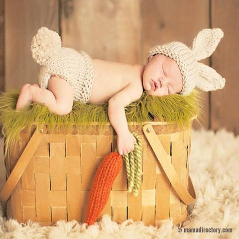 Newborn baby Photography Props Crochet Knitting Baby Bunny Costumes Set Rabbit