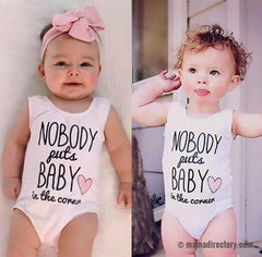 Nobody Puts Baby In The Corner Baby Girls Romper vest 0-24M