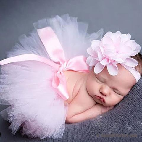 Newborn Girl Princess Baby Tutu Skirt & Headband