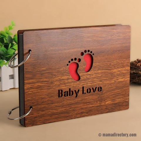 High quality beautiful wooden handmade diy baby photo album scrapbooking