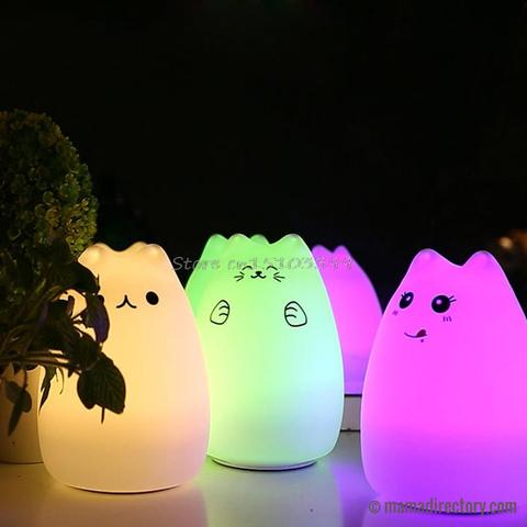 Cute USB Cat LED Animal Night Light