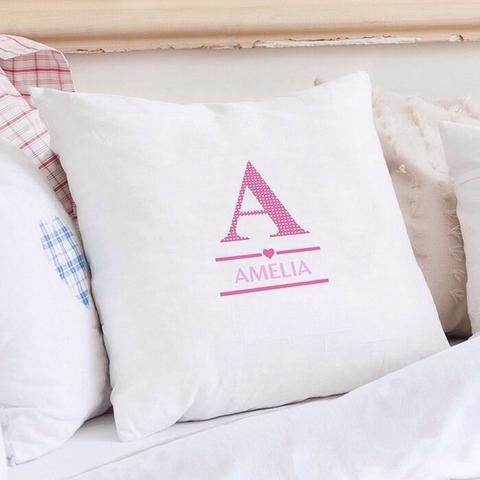 Personalized Cushion Cover Custom Initial And Name
