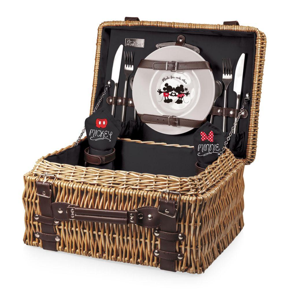 Mickey & Minnie Mouse - 'Champion' Picnic Basket (Black)