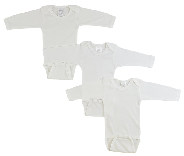 Long Sleeve White Onesie 3 Pack