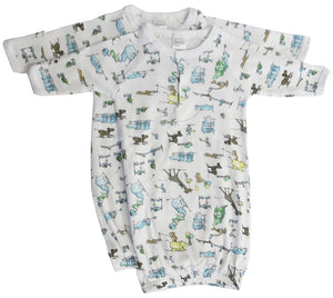 Print Infant Gowns - 2 Pack Newborn