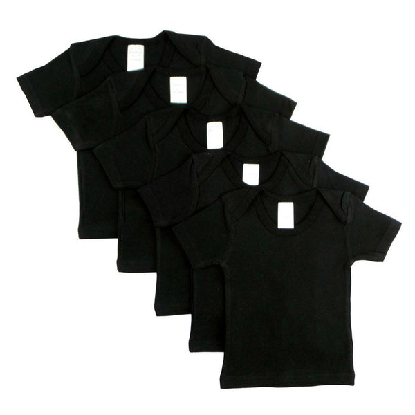 Black Short Sleeve Lap Shirt (Pack of 5)
