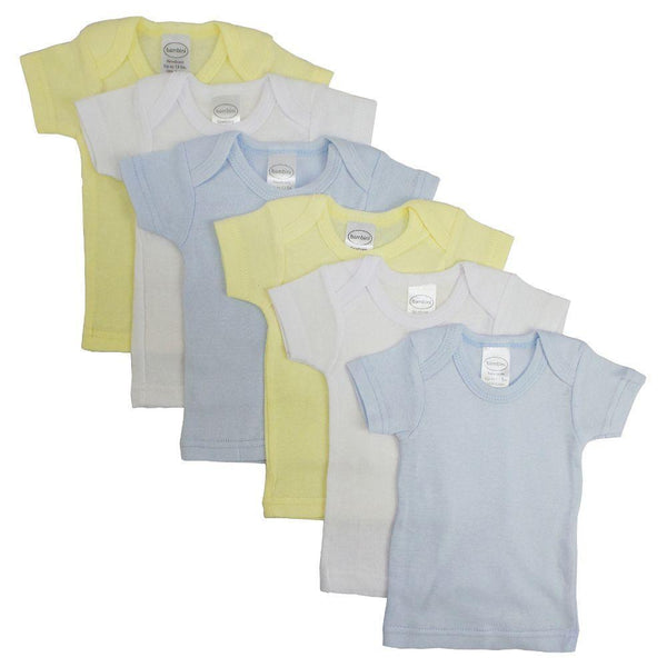 Boys Pastel Variety Short Sleeve Lap T-shirts - 6 Pack