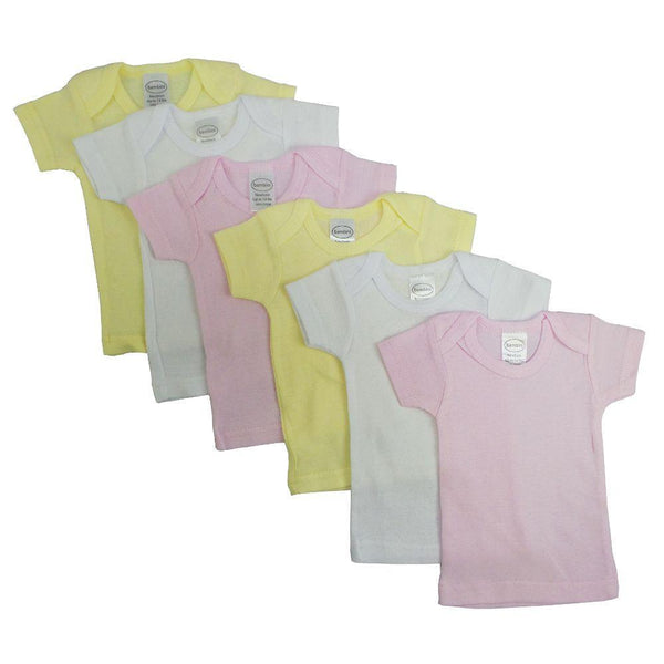 Girls Pastel Variety Short Sleeve T-shirts - 6 Pack