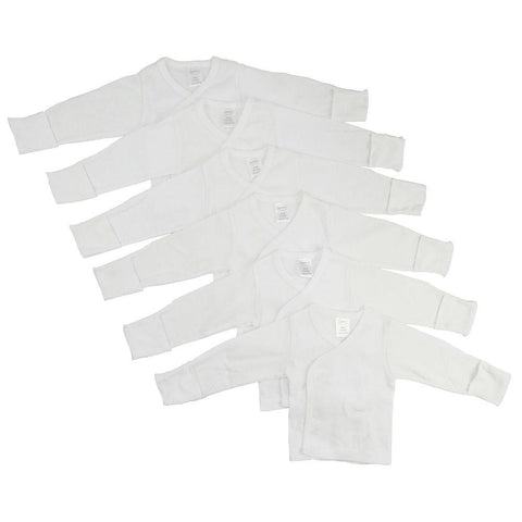 Preemie Long Sleeve Side Snap With Mitten - 6 Pack