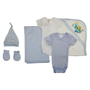 Newborn Baby Boy 6 Pc Layette Baby Shower Gift Set