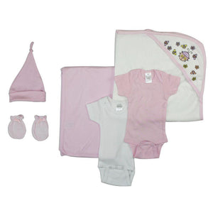Newborn Baby Girl 6 Pc Layette Baby Shower Gift Set