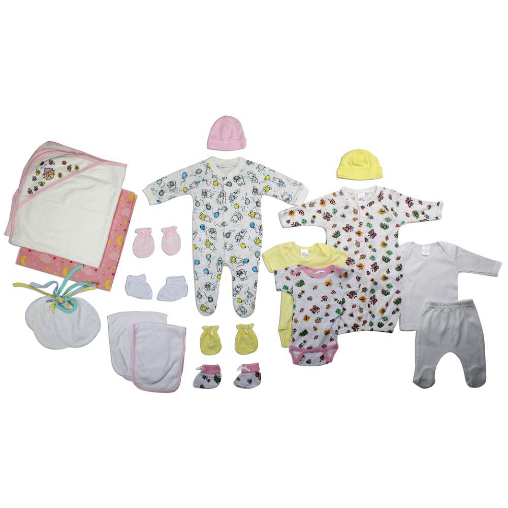 Newborn Baby Girl 19 Pc Layette Baby Shower Gift Set Newborn