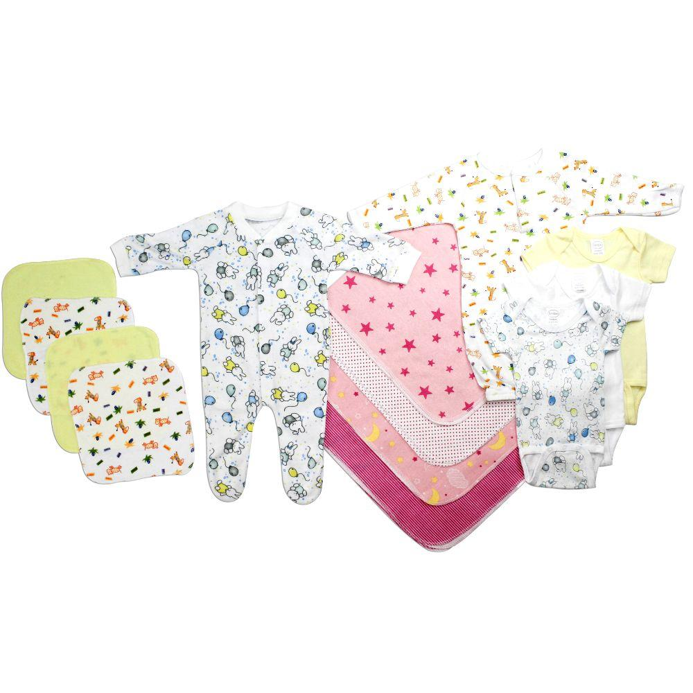 Newborn Baby Girls 13 Pc Layette Baby Shower Gift Set