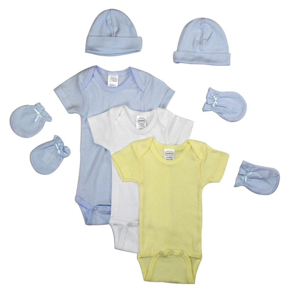 Newborn Baby Boy 7 Pc Layette Baby Shower Gift Set Mama