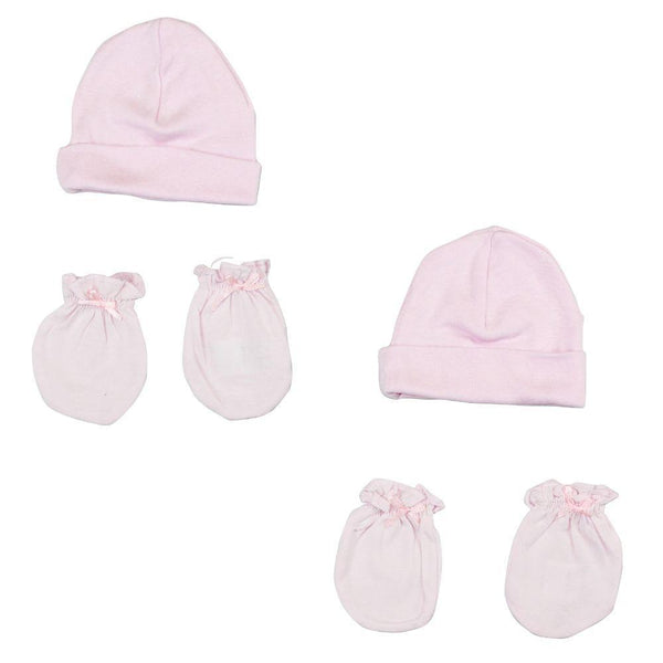 Baby Cap and Mittens 4 Piece Set Newborn