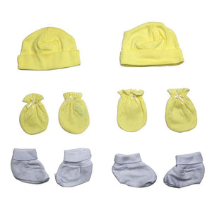Cap, Booties and Mittens 6 Piece Layette Set Newborn