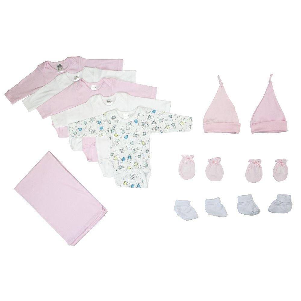 Newborn Baby Girl 12 Pc Layette Baby Shower Gift Set