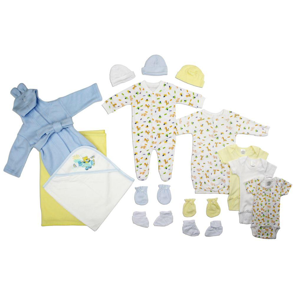 Newborn Baby Boys 15 Pc Layette Baby Shower Gift Set