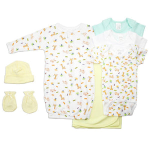 Neutral Newborn Baby 7 Pc Layette Baby Shower Gift Set