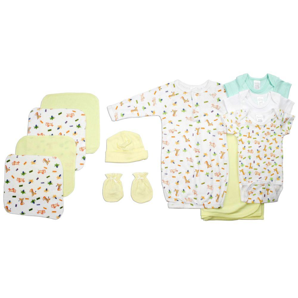 Neutral Newborn Baby 11 Pc Layette Baby Shower Gift Set