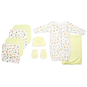Neutral Newborn Baby 8 Pc Layette Baby Shower Gift Set