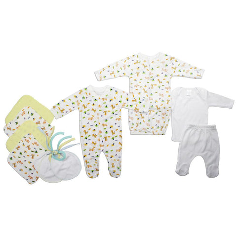 Neutral Newborn Baby 10 Pc Layette Baby Shower Gift Set