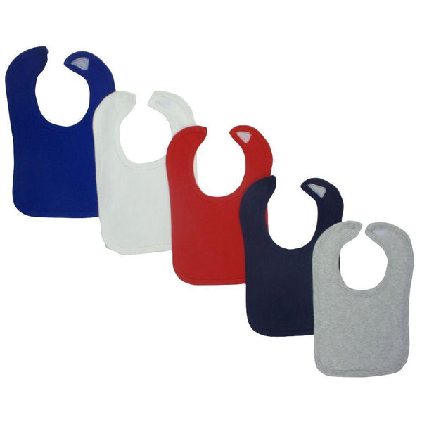 Baby Bibs (Pack of 5) One Size - Assorted Colors