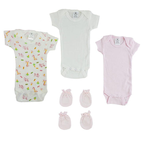Preemie Onezies and Mittens - 5 Pcs Set Preemie
