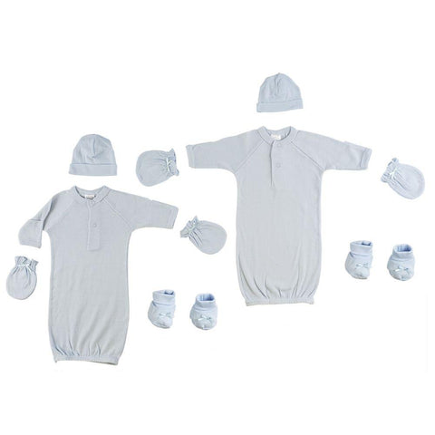Preemie Boys Gowns, Caps, Booties and Mittens