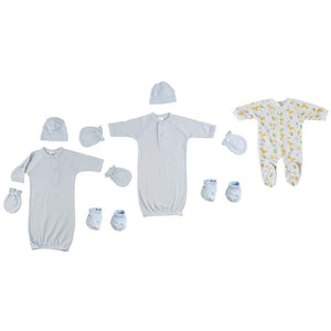 Preemie Boys Sleep-n-Play, Gowns, Caps, Booties and MIttens Preemie