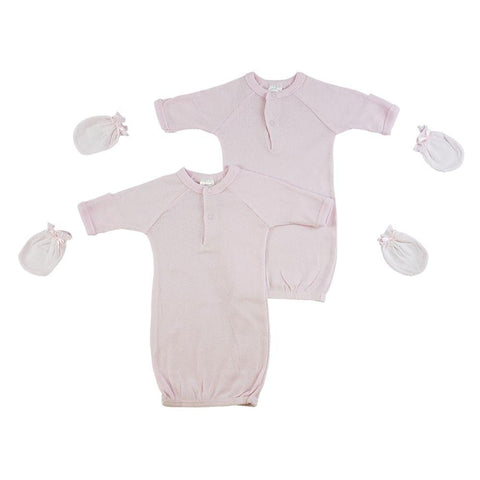 Preemie Girls Gowns and Mittens