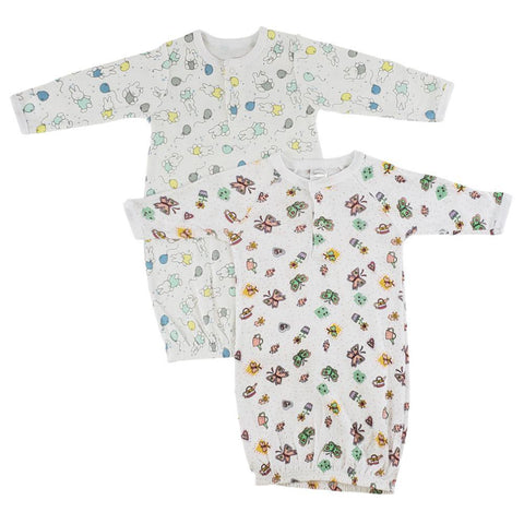 Girls Print Infant Gowns - 2 Pack Newborn