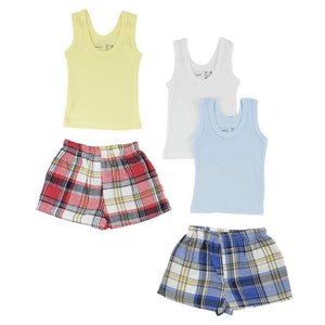 Boys Tank Tops and Boxer Shorts
