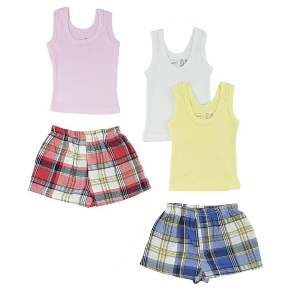Girls Tank Tops and Boxer Shorts