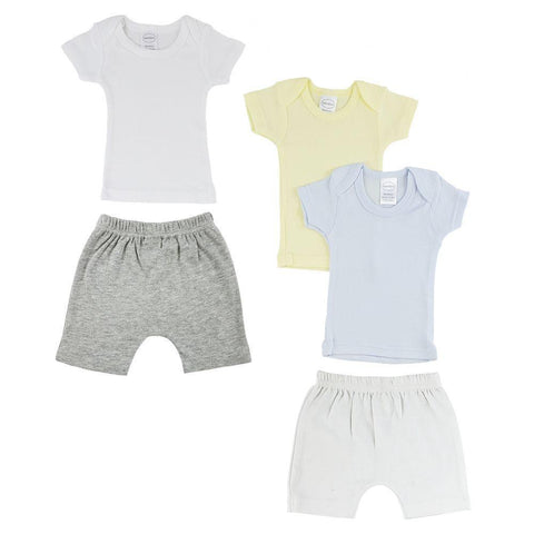 Blue/Yellow Infant Boys T-Shirts and Shorts - 5 Pack