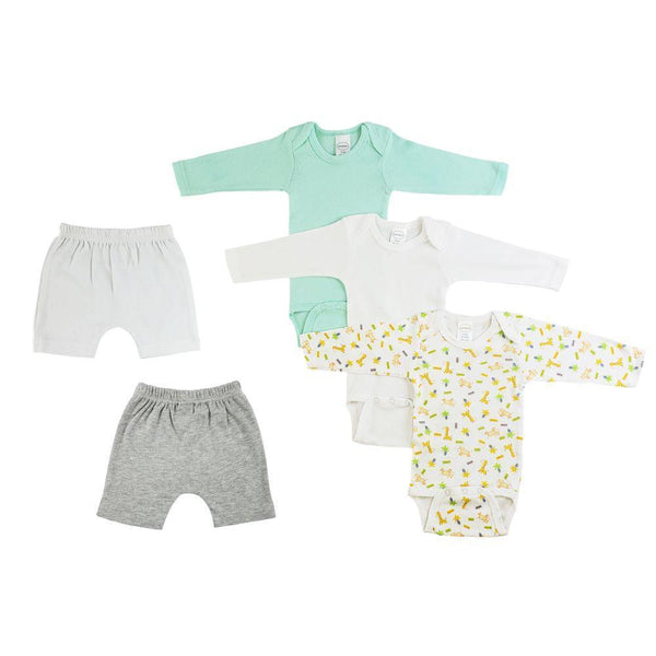 Nuetral Infant Long Sleeve Onesies and Shorts