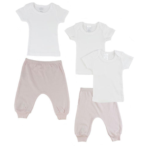 Infant T-Shirts and Joggers - Pink