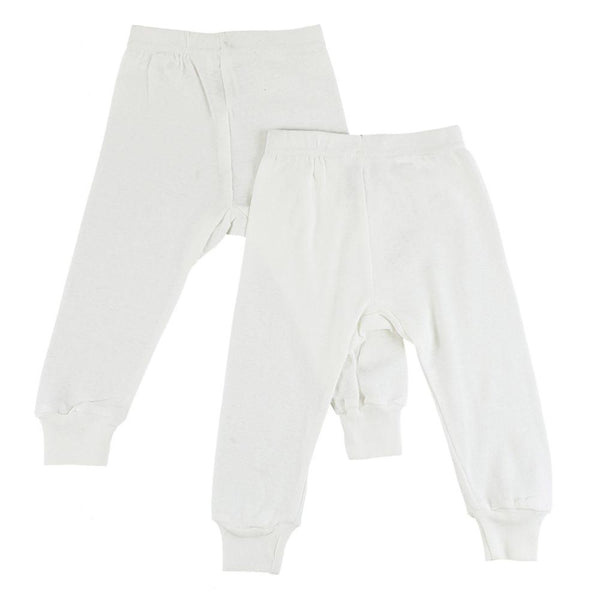 White Long Pants - 2 Pack