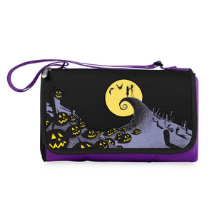 Jack and Sally - Blanket Tote Outdoor Picnic Blanket (Purple)