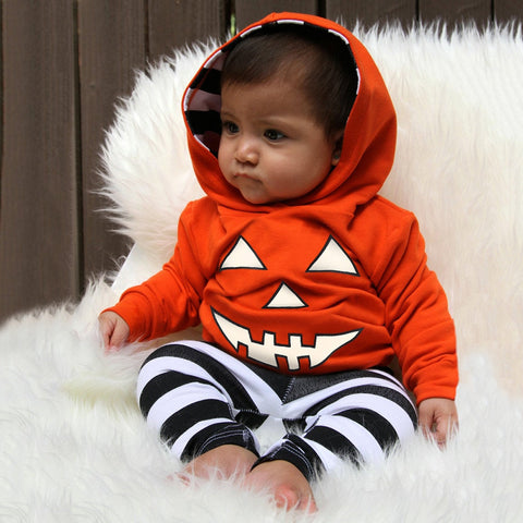 Jack-O-Lantern Hoodie Outfit 2 Piece