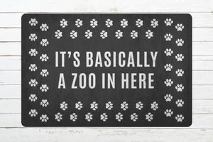 Welcome Mat Zoo in here