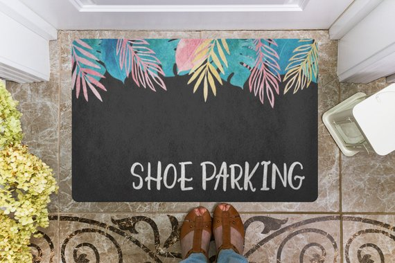 Welcome Mat Shoe Parking