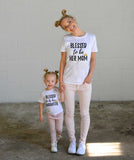 Family matching outfits Mom Mommy and me clothes Letter Short sleeved T-shirt Mother daughter tops