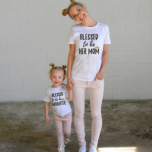 'Blessed To Be' Matching Mom and Daughter Family Shirts
