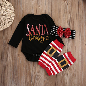 """Santa Baby"" Long Sleeve 3 Piece Outfit"