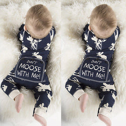 'Don't Moose With Me' Long Sleeve Romper Jumpsuit