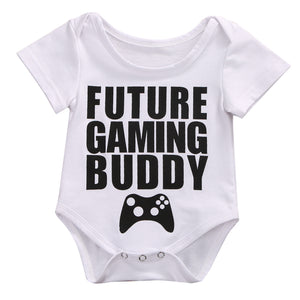 'Future Gaming Buddy' Short Sleeve Romper Onesie