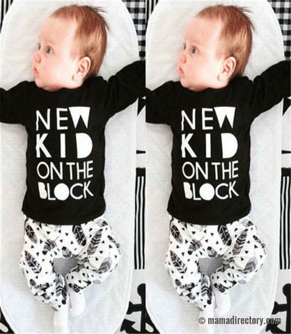 'New Kid on The Block' T-Shirt + Pants Outfit